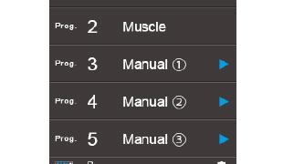 +3つのユーザープログラム設定